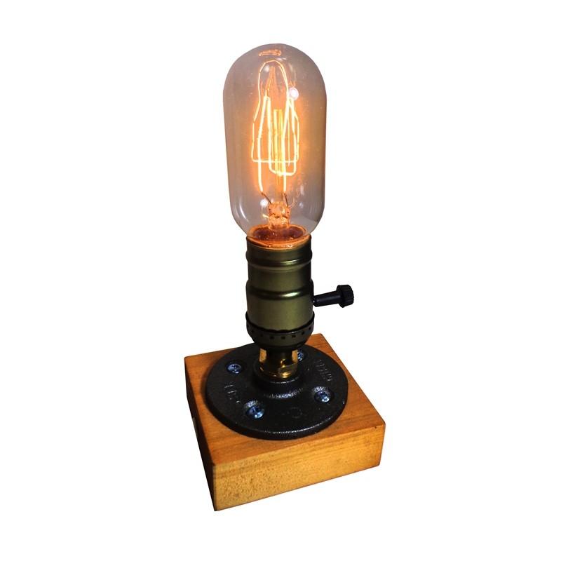 Luminária de Madeira Retro - Tona Brasil