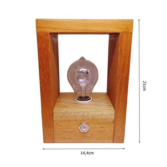 Luminária de Madeira Vazada - Tona Brasil