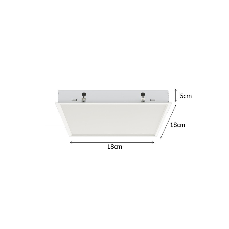 Luminária Embutida Simples p/PL 15w - Interlight