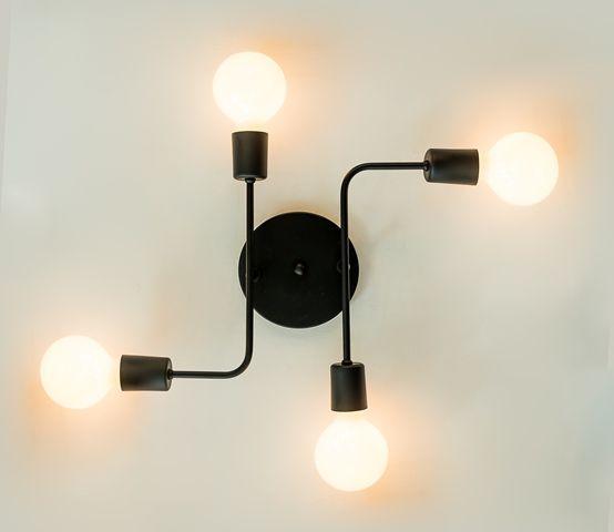 Luminária Hashtag com 4 lâmpadas
