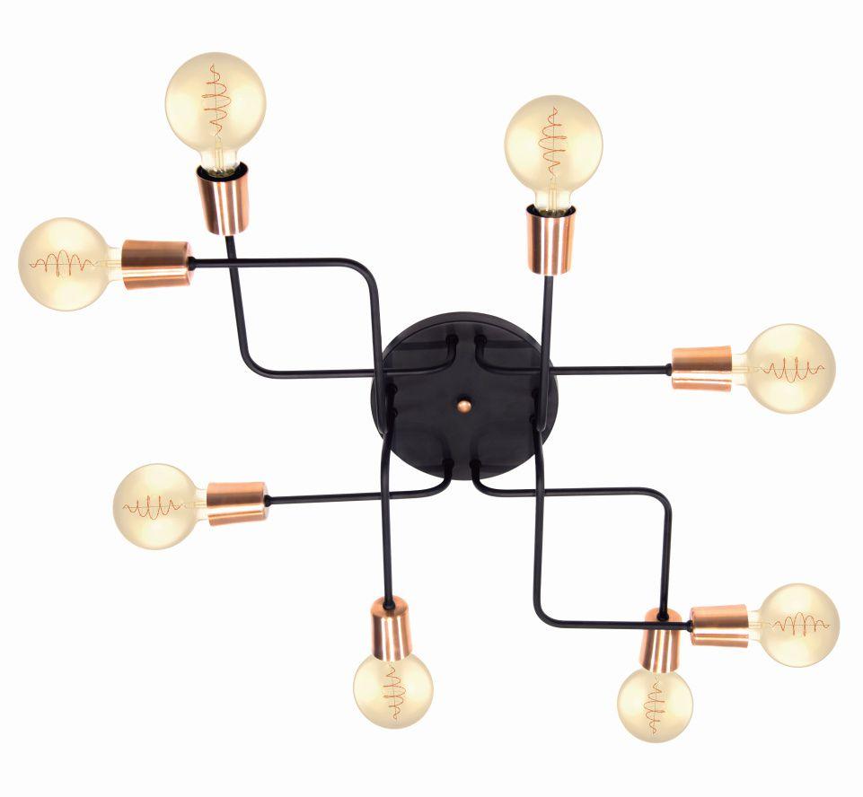 Luminária Hashtag para 8 lâmpadas