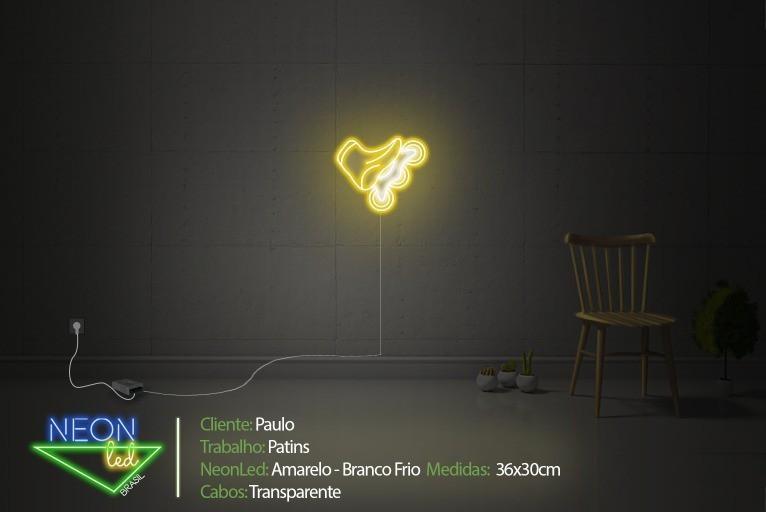 Neon Personalizado Patins