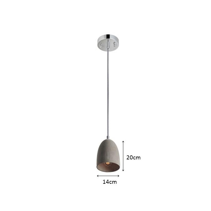 Pedente Beton 14cm - Alta Luce