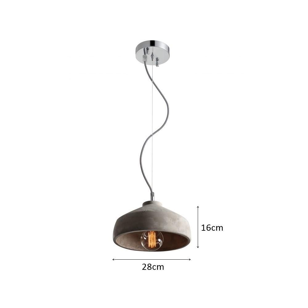 Pedente Beton 28cm - Alta Luce