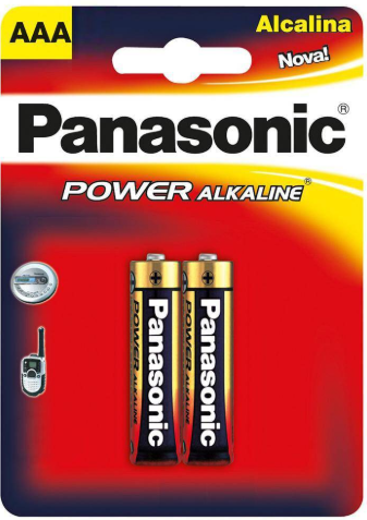 PIlha Alcalina AAA 2un - PANASONIC POWER ALKALINE