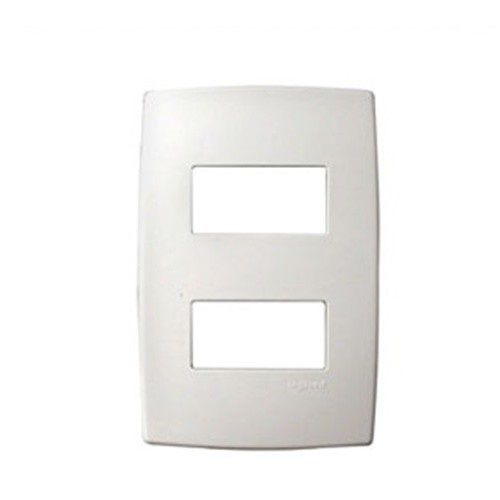 Placa Pial Branca 4x2 / 2 Postos Separados
