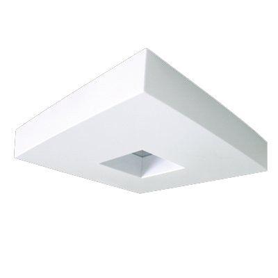 Plafon Acrílico Sobrepor Quadrado Furado 35cmx35cm - Luminacril