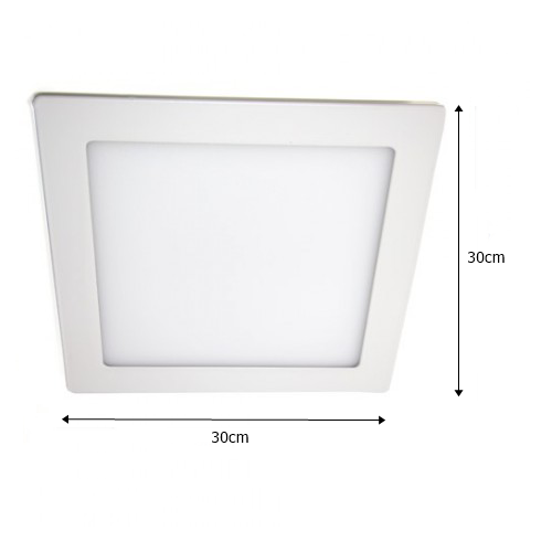 Plafon de Led  Quadr. Sobrepor 24w -  UP LED