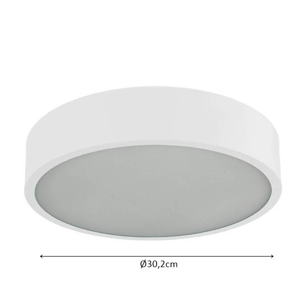 Plafon em Alumínio Redondo p/ 3 Lampadas - Nata Iluminação