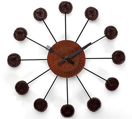 Relógio Chocolate com Biscoito - Az Design