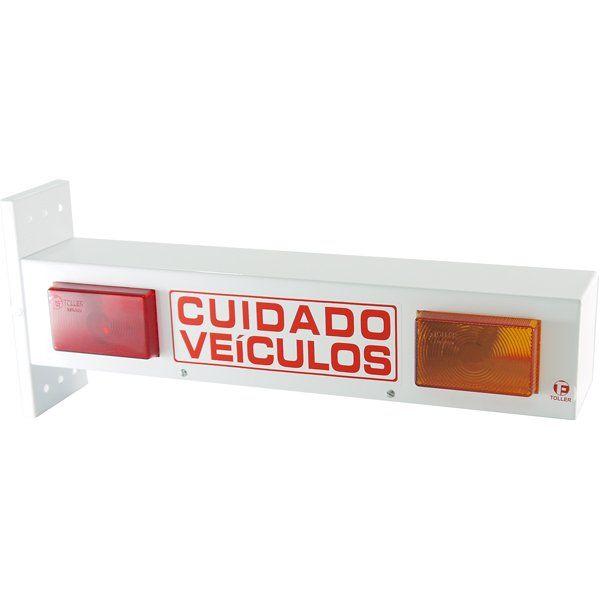 Sinalizador de Garagem LED com BIP Sonoro