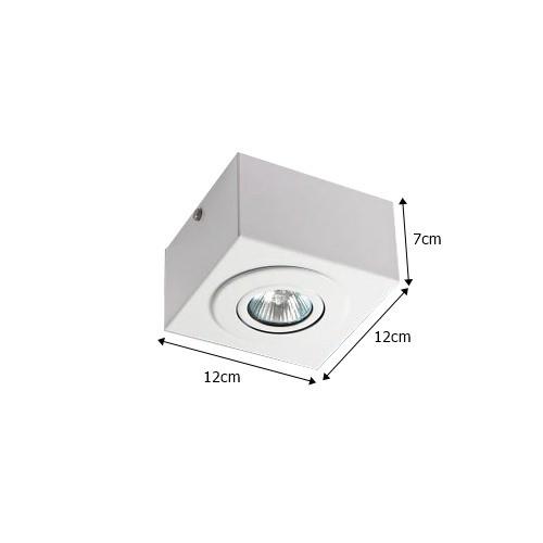 Spot Caixa Sobrepor p/ 1 Lâmpada - Colombo
