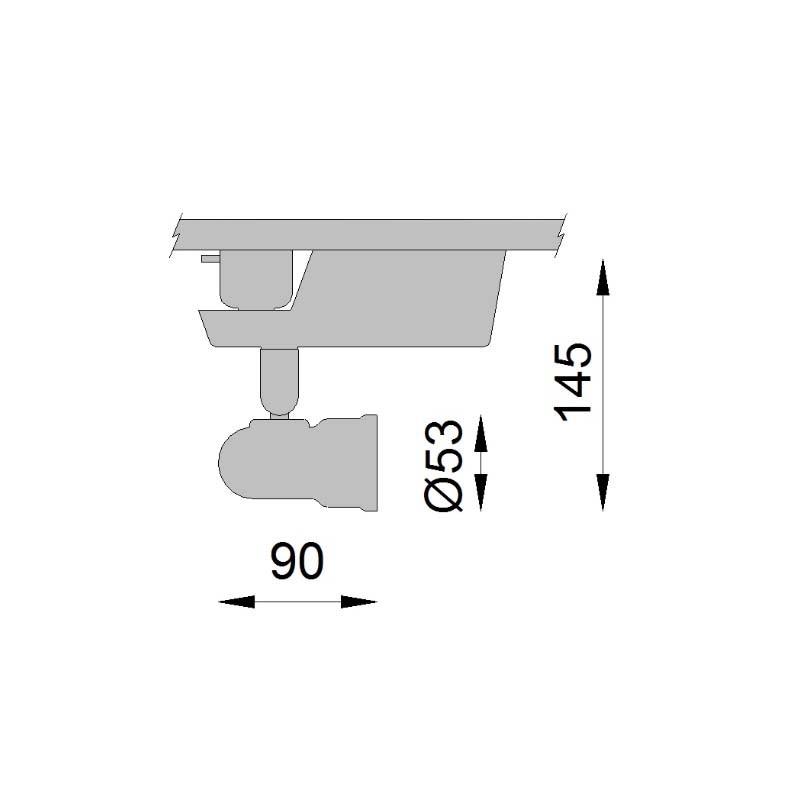 Spot p/ Trilho Dicróica GU10 com Trafo 50W  - Altena