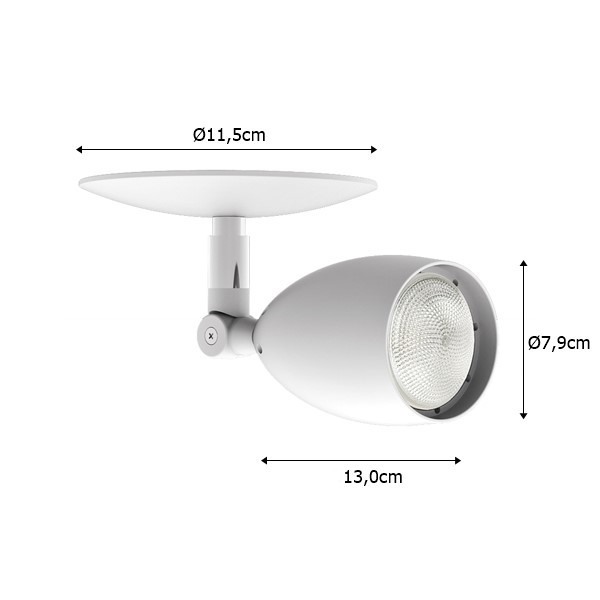 Spot Sobrepor p/ Trilho ou Teto Par 20 50w  - Interlight