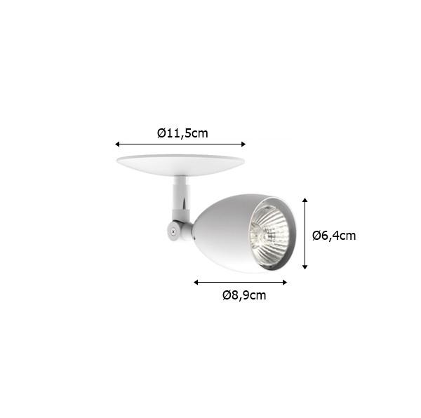 Spot Sobrepor p/ Trilho ou Teto Dicróica 50w - Interlight