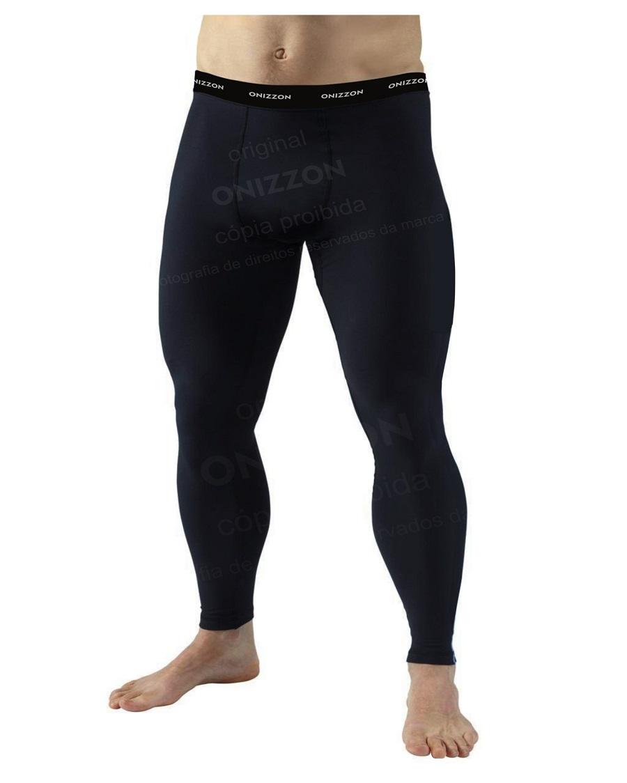 Calça Legging Liso Masculina Térmica Frio de Compressão Esportiva