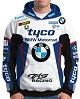 BLUSA MOTO CAPUZ BRANCO-AZUL (BMW)