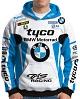BLUSA MOTO CAPUZ BRANCO-AZUL CELESTE (BMW)