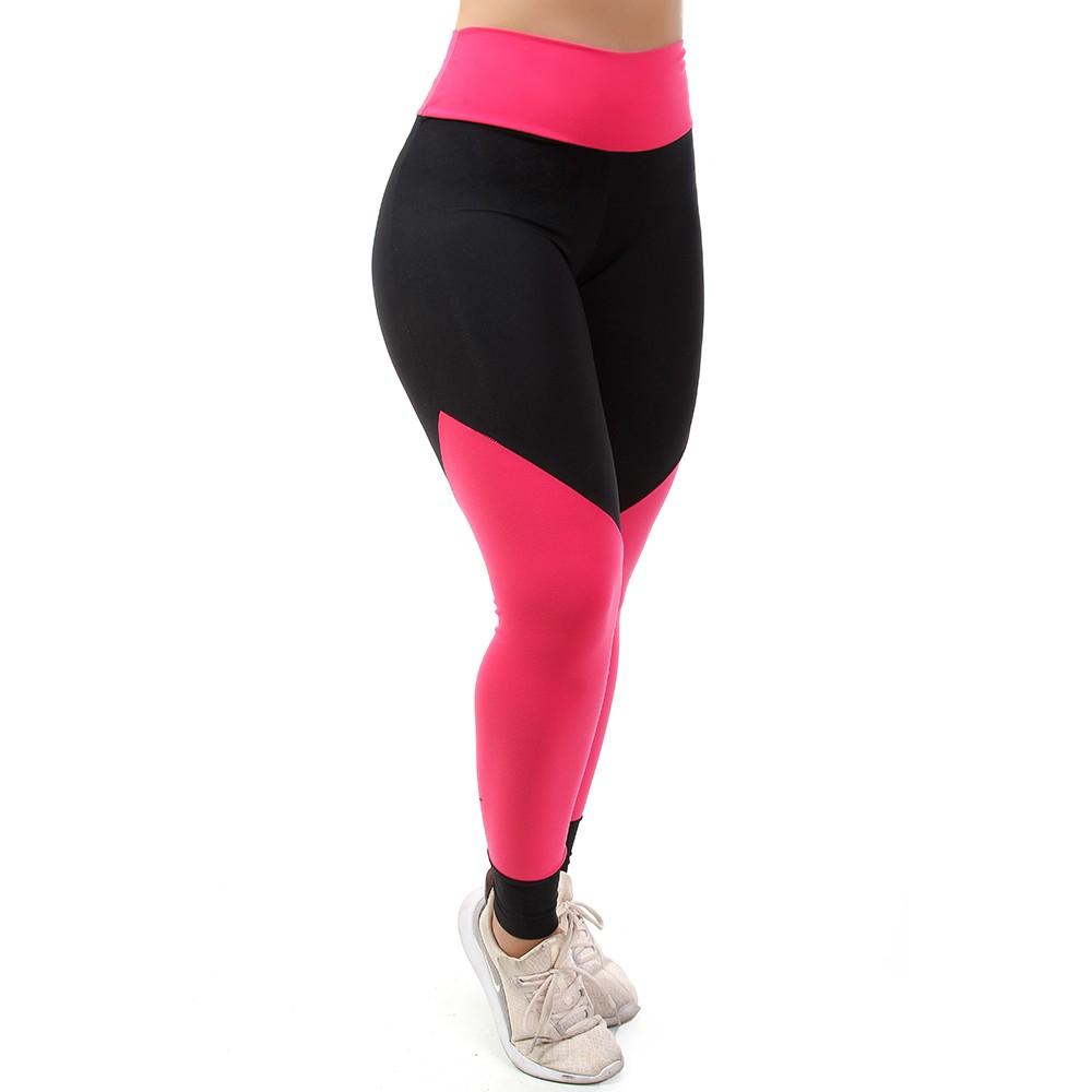 Calça Legging Go Fit Rio Legging Fitness Recorte