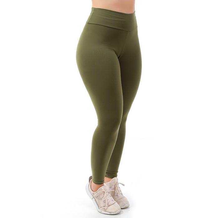 Calça Legging Go Fit Rio Básica Verde Militar Fitness