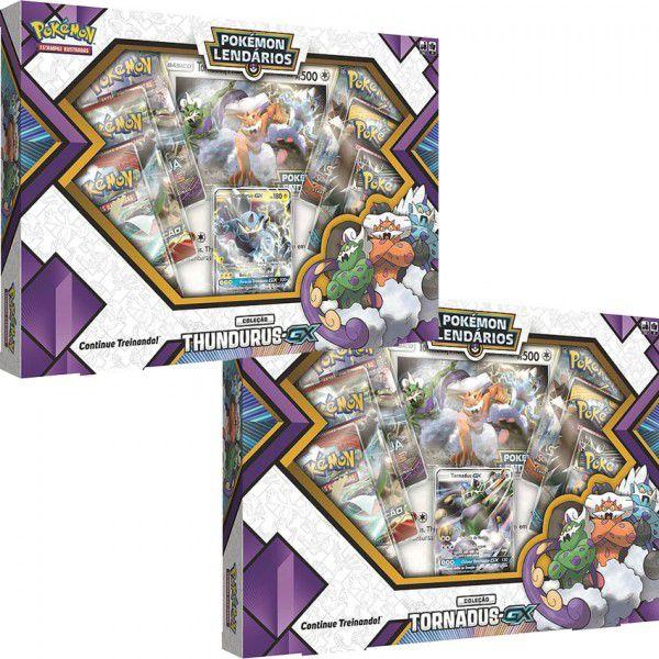 2 Box Pokémon Lendários Tornadus-GX e Thundurus-GX