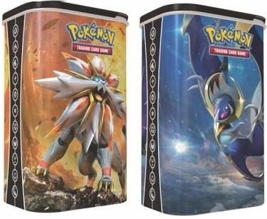 2 Latas Pokémon Porta Card Solgaleo e Lunala - Copag