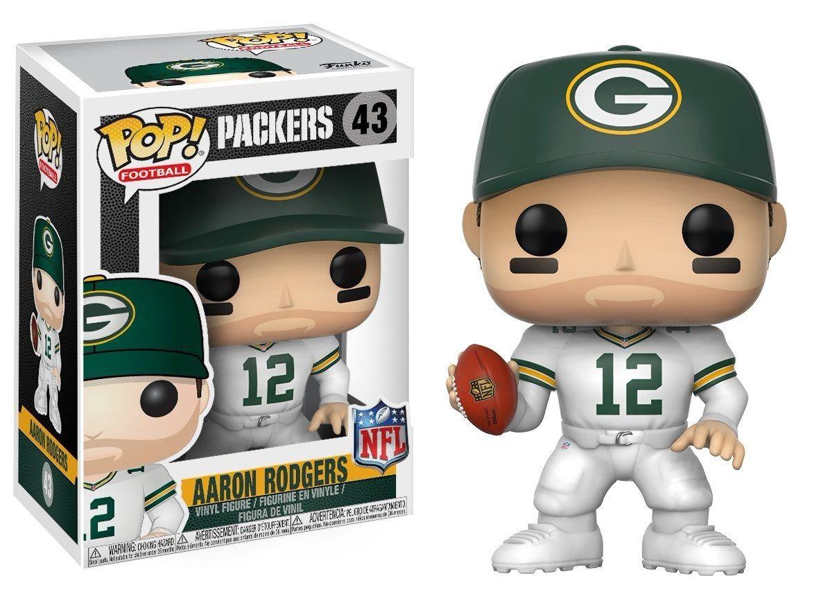 Aaron Rodgers - Packers NFL - Boneco Pop Funko