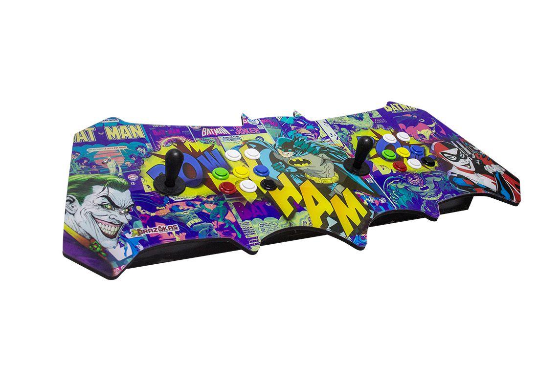 Arcade Fliperama Portatil com 14 mil Jogos desenho do Batman e Coringa