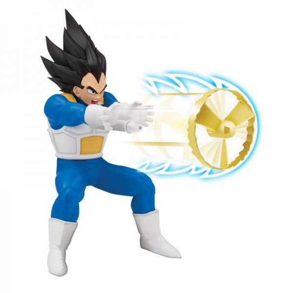 Boneco Dragon Ball Super Vegeta Super Sayajin com Lançador
