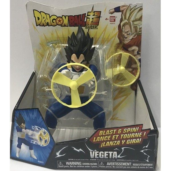 Boneco Dragon Ball Super Vegeta Super Sayajin com Lançador