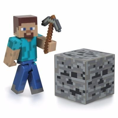 Boneco Minecraft Steve com Acessórios Sortidos - Multikids