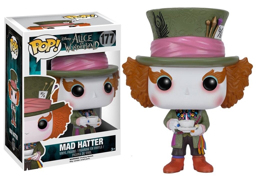 Disney Alice Wonderland (chapeleiro) - Mad Hatter Funko Pop
