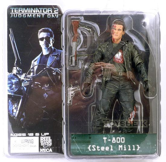 Exterminador Do Futuro T-800 - Steel Mill - Terminator 2 Neca