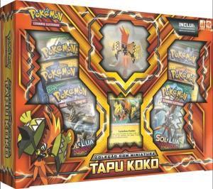 Jogo Deluxe - Box Pokémon com Miniatura - Sol e Lua - Tapu Koko - Copag