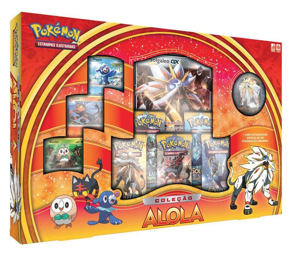 Jogo Pokémon - Coleção Alola Solgaleo e Lunala - Copag