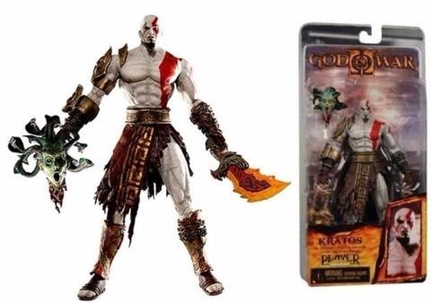 Kratos Com Cabeça Medusa Pvc Action Figure