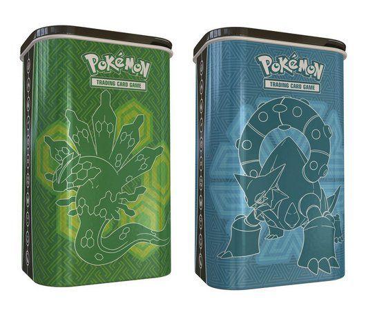 Lata Pokémon Porta Baralho Volcanion E Zygarde 2 Unidades