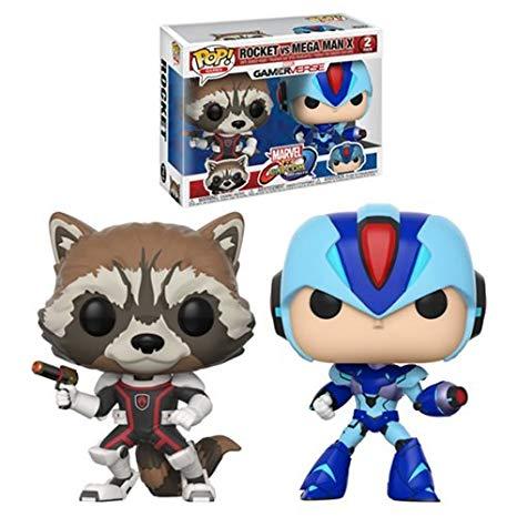 Marvel vs. Capcom Rocket vs Mega Man X Funko Pop