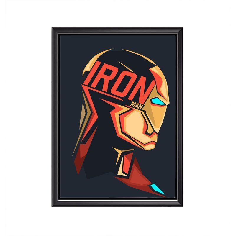 Quadro Poster Minimalista Face Iron Man