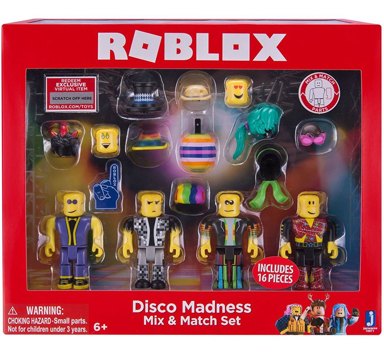 Roblox Mix & Match Disco Madness Figure 4 - Pack Set