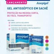 Caixa Gel Antisséptico de Sachê - 3 g   Asseptgel