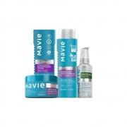 Combo Mavie: Shampoo + Condicionador + Máscara + Óleo de Coco Platinum