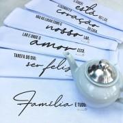 Pano de Prato Personalizado - 6 unid. Coleção Família | Pano do Chef