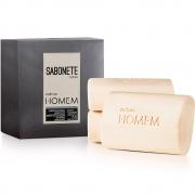Sabonete em Barra Cremoso e Refrescante Natura Homem 3 unidades 110 g