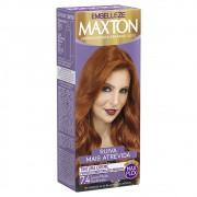 Tintura Creme 7.4 Louro Médio Acobreado MaxTon - Ruiva + Atrevida - 50 g