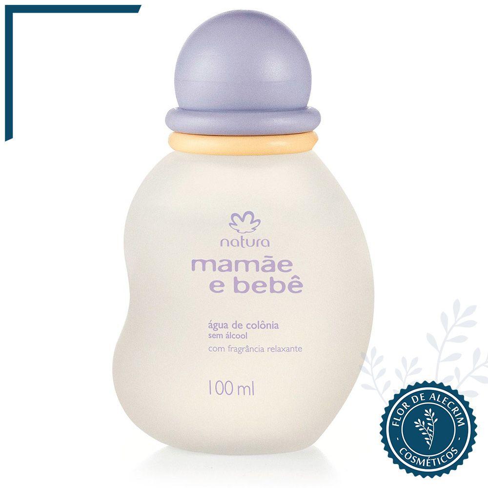 Água de Colônia sem Álcool com Fragrância Relaxante   Mamãe e Bebê - 100 ml  - Flor de Alecrim - Cosméticos