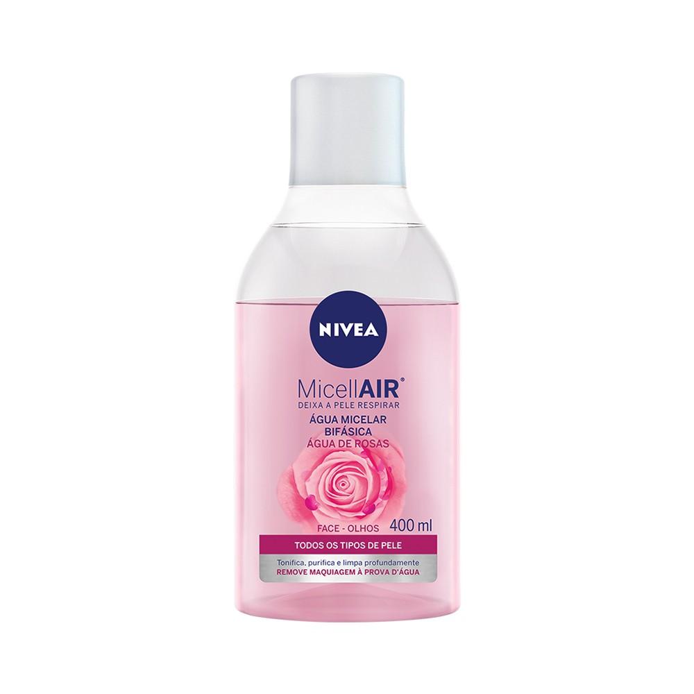Água Micelar Bifásica com Água de Rosa - 400 Ml | Nivea  - Flor de Alecrim - Cosméticos