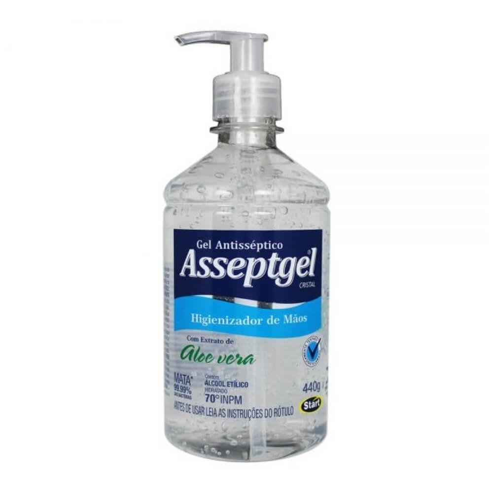 Álcool em Gel Higienizador de Mãos - 420 g | Asseptgel  - Flor de Alecrim - Cosméticos