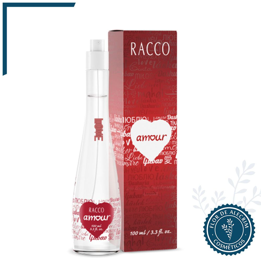 Amour - 100 ml   Racco  - Flor de Alecrim - Cosméticos