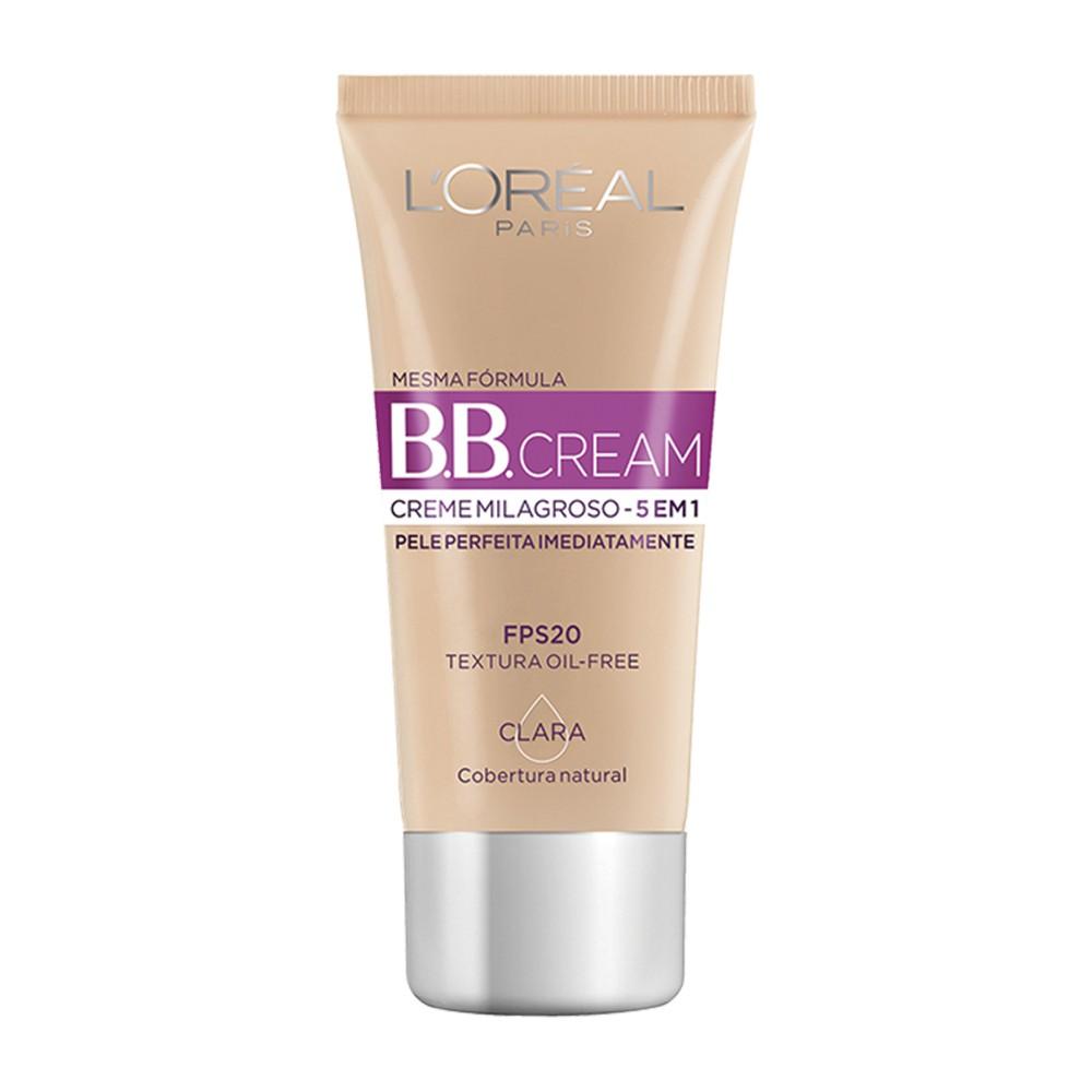Base B.B Cream Loréal Líquido Claro FPS 20 30 Ml  - Flor de Alecrim - Cosméticos
